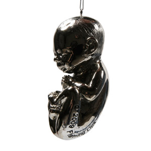 Embryonic Silver Trembling Fetus Ornament